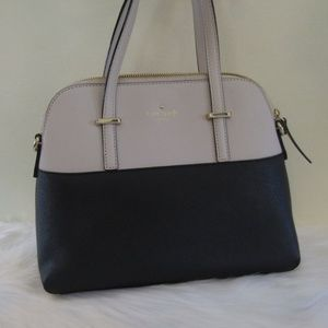Kate Spade Black and White Leather Maise Purse